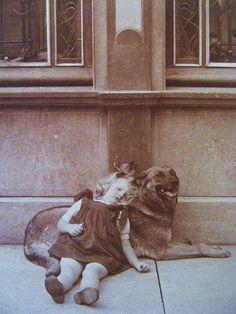 Lean on Me . 1920s Amazing Vintage Pet Photo. $225.00, via Etsy.