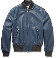 Club Monaco Golden Bear Leather Bomber Jacket | MR PORTER