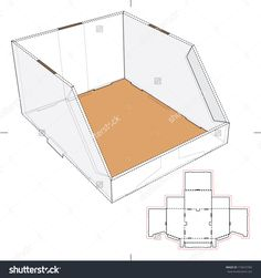 Stackable Tray Box With Blueprint Layout Stock Vector Illustration 173672783 : Shutterstock