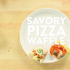 This is perhaps the best thing to ever happen to waffles. Crispy, flavorful, cheese-filled waffles topped with tomato sauce, more cheese, and your favorite Waffle Toppings, Waffle Recipes, I Love Food, Good Food, Crispy Waffle, Savory Waffles, Popsugar Food, Cooking Recipes, Healthy Recipes