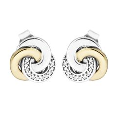 Interlinked Circles Stud Earring With 14K Real Gold 100 Sterling Silver Jewelry Free Shipping. Click visit to buy #FineJewelryEarring #Jewelry #Earring