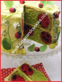 Ladybird Inside Cake Tutorial Available