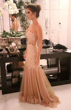 Dress by ROBERTA LETTIERE #dress #gown #beautiful #fashion #moda #vesitdo #prom #wedding #formatura #nude