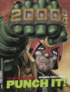 Ooooh, that's gonna leave a mark - Cliff Robinson packs a punch on the cover to 2000 AD Prog with all new stories starting inside! Vintage Comic Books, Vintage Comics, Comic Books Art, Comic Art, Book Art, Dc Comics, Uk Digital, Video Game Music, Video Games