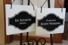 Salon Sign for business In Session Shhhh / Body by Frameyourstory, 29.99