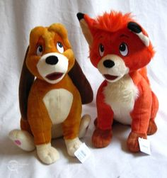 Fox & the Hound stuffed animals - from the Disney store!