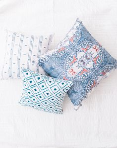 Faded blues an American classic styles. Shop Americana Throw Pillows.