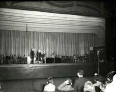Radio Show in the South Hall. 1944. Memphis Historic Ellis Auditorium - and Market Place