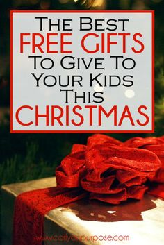 free Christmas gifts for kids - these gift ideas for kids are SO AWESOME