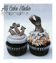 Antique Nautical themed Baby Shower cupcakes AGCAKESTUDIO