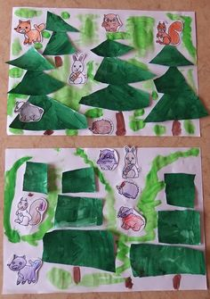 les Lesy, Forest Theme, Preschool Letters, Winter Crafts For Kids, Forest Animals, Holiday Crafts, Kindergarten, Lettering, Teaching