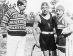 Leopold Brodzinski, Rudolph Valentino and Pola Negri at her home, 1926 Rudolph Valentino, Horsemen Of The Apocalypse, Silent Film Stars, Classic Movie Stars, Vintage Hollywood, American Actors, Vintage Men, Beautiful Men, Bathing Suits