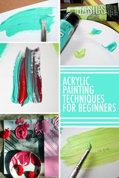 13 Acrylic Painting Techniques All Beginners Should Try How Exactly Do You Do Get Started With Acrylic Painting Begin With Tried And True Techniques This Guide Of Beginner Acrylic Skills Will Get Your Painting Journey Started In The Right Direction Painting & Drawing, Doodle Drawing, Acrylic Painting Techniques, Painting Lessons, Art Techniques, Diy Painting, Art Lessons, Watercolor Techniques, Drawing Faces