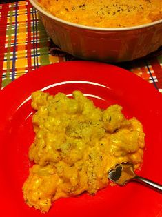 psych-you-out-triple-mac-cheese -  a creamy bechamel sauce, with 3 cheeses melted in over steamed cauliflower, baked with more cheese on top.  Add ground beef for a meal better than hamburger helper