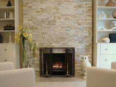 Neat fireplace.