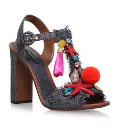 Dolce & Gabbana Marina Charm Sandals 105 available to buy at Harrods. Shop women's shoes online and earn Rewards points.