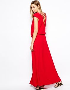 Image 1 ofBA&SH Maxi Dress with Lace Up Detail
