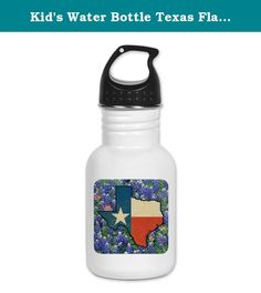Kid's Water Bottle Texas Flag Bluebonnets. Product Number: 0001-1531593184 Perfect for school lunches or soccer games, our kid's stainless steel water bottle quenches children's thirst for individuality. Personalized for what kids love, it's both eco-friendly and compact. Made of 18/8, food-grade stainless steel. * No lining & no BPA or other toxins * Wide mouth for easy drinking * Durable, BPA-free & phalate-free screw-on top * Holds 0.35L (nearly 12 ounces) * Thin profile to fit most…