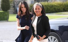 Meghan Markle and her mother, Doria Ragland, arriving at Cliveden House Hotel last night #meghanmarkle