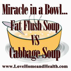 the Katydid on Love, Home and Health: Miracle In A Bowl: Fat Flush Soup VS Cabbage Soup Diet