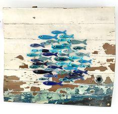 My fish coastal wall art Group Art Projects, Clay Art Projects, Seaside Art, Coastal Wall Art, Fish Wall Art, Fish Art, Driftwood Art, Driftwood Projects, Clay Fish