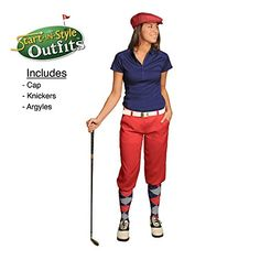 Start-In-Style Golf Knickers Outfit - Ladies - Red - Size 8 *** Want additional info? Click on the image.