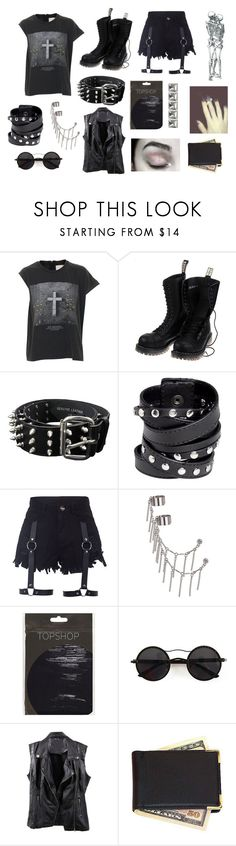 """""""Untitled #988"""" by southerngoth ❤ liked on Polyvore featuring ElevenParis, Vegetarian Shoes, Bullet, Miss Sixty, Topshop, Chicnova Fashion and Royce Leather"""