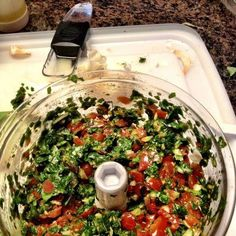 My favorite all purpose tool is our Maunual Food Processor! One of my favorites is Bruschetta. You can add to pasta or serve with toasted bread!! Either way it is yummy!! Pack your manual food processor with basil and 3-5 cloves of garlic peeled, 2 tbs olive oil, process then add 2 roma tomatoes, salt and more evoo to make the texture you want. Process one more time and then serve!!! Yummo!!    For more recipes check out Facebook.com/dinnerrecipes