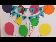 Manualidad para regalar - Tarjeta Feliz Cumpleaños - Happy birthday card Home Interior, Happy Birthday, Diy, Cards, Inspiration, Google, Watch, Ideas, Youtube