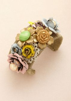 Lenora Dame  Pastel Multi-flower Cuff