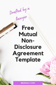 BeLegally provides a free mutual non-disclosure agreement (also known as a confidentiality agreement) template for everyone who joins our Free Legal Resources Library. Small Business Plan, Writing A Business Plan, Work From Home Business, Start Up Business, Business Planning, Business Tips, Marketing Information, Accounting Information, Non Disclosure Agreement