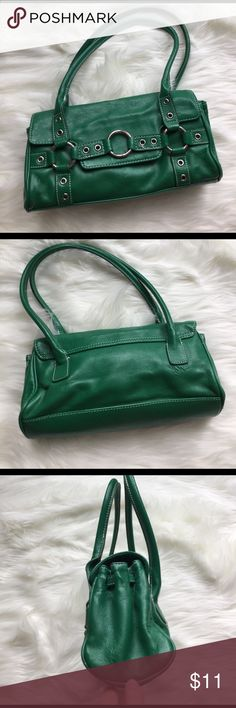"""NY & Co fun purse for St. Patrick's day 🍀 Cute purse to carry for spring or to the parades!  Purse does show signs of use as reflected in pics and price.  10.5"""" across, 5"""" high, base is 3"""". New York & Company Bags Shoulder Bags"""