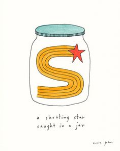 a shooting star, caught in a jar