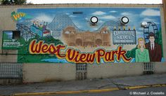 west view amusement park painted on the side of Center Ave Slice Pizza ( West View). Which use to be Kallies Pharmacy