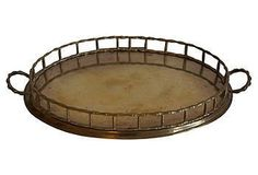 Vintage Brass Gallery Tray $250