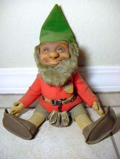 """RARE Original Antique 12"""" Steiff Pucki Gnome Elf"""
