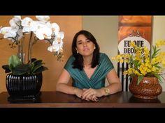 Eu Que Decoro   Como montar Arranjo de Orquídeas   Video Aula - YouTube
