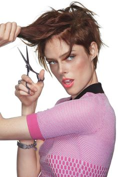 coco-rocha-short-haircut - do's and don'ts before getting a short hair cut. - not necessarily easier than long hair.....