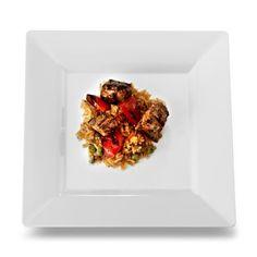 """Squares 9.5"""" Dinner Plate, White (Set of 10) $13.29"""