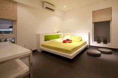 Architectural, View Of Bedroom For Baby Nursery In The Interior Of Modern Residence: Astonishing Densely Greened Contemporary Family Residen...