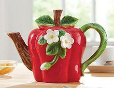 Apple Shaped Ceramic Kitchen Teapot Collections Etc http://www.amazon.com/dp/B00LXQ6RPM/ref=cm_sw_r_pi_dp_OTN-wb0XWCWJG