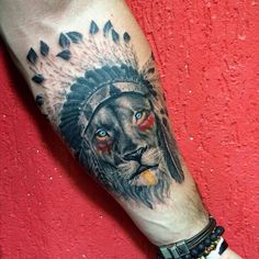 Lion Native Tattoo
