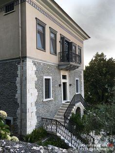 Details of a residential mansion _ mansion Stone Mansion, Bedroom Lighting, Reuse, Minimalism, Swimming Pools, Restoration, Construction, Mansions, Interior Design