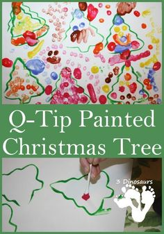 Christmas trees are a great theme for this time of year. There are so many ways to decorate a Christmas tree. We did this fun q-tip painting activity to get some fun fine motor activities in. Christmas Tree Painting, Christmas Themes, Winter Christmas, Kids Christmas, Preschool Christmas Activities, Winter Activities, Preschool Crafts, Motor Activities, Craft Activities