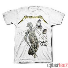 cyberteez.com - Metallica Justice For All White T-Shirt, $19.95 (http://www.cyberteez.com/metallica/metallica-justice-for-all-white-t-shirt/)