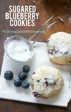Blueberry Sugar Cookies Recipe - perfect for summer with fresh berries and easy for kids to help with. #cookies #blueberry #simple