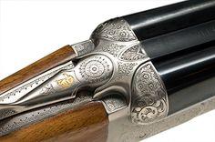 Beretta Model 471 Silver Hawk Double Barrel Shotgun Trap Shooting, Shooting Gear, Beretta Shotgun, Side By Side Shotgun, Double Barrel, Metal Engraving, Military Guns, Hunting Rifles, Cool Guns