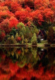 Autumn Lake, Quebec, Canada