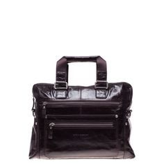Leather Top Handle Bag with a Detachable Long Strap. Carlo Pazolini