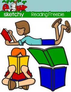 FREEBIE Reading / Book Clipart - Graphic FREEBIEIncluded are 4 Color, 4 Grayscale, and 4 Black Lined, PNG/Transparent Clipart.12 Items Total. To See My ELA Clipart:   ABC's  To See Some of My Other Clipart Please Visit My Store:   A Sketchy Guy Store Each item has a transparent background.